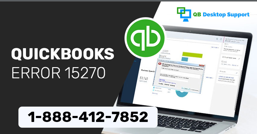 Unable to update QuickBooks Payroll Error 15270 | How to Fix?